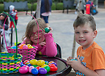 Four-year Elysa and six-year old Enzo during the Easter Egg Hunt at Legends in Sparks, Nevada on Saturday, April 20, 2019.