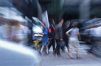 Pedestrians crossing the street<br />