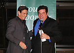 Guiding Light's Sean McDermott is greeted by host Dale Badway - The 29th Annual Jane Elissa Extravaganza which benefits The Jane Elissa Charitable Fund for Leukemia & Lymphoma Cancer, Broadway Cares and other charities on November 14, 2016 at the New York Marriott Hotel, New York City presented by Bridgehampton National Bank and Walgreens.  The event is a Cabaret with singer Sean McDermott (Guiding Light) (Photo by Sue Coflin/Max Photos)