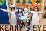 CHRISTMAS PLAY: Alyssa Kislosky, Sebastian Sosnowski, Ciara Marie O'Connor Roche, Julie Griffin  students  at Scoil Eoin, Balloonagh enjoying their Christmas play on Tuesday