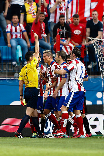 02.05.2015. Bilbao, Spain. Fernando Torres Forward of Atletico de Madrid . La Liga football. Atletico de Madrid versus Athletic Club Bilbao at Vicente Calderon stadium.