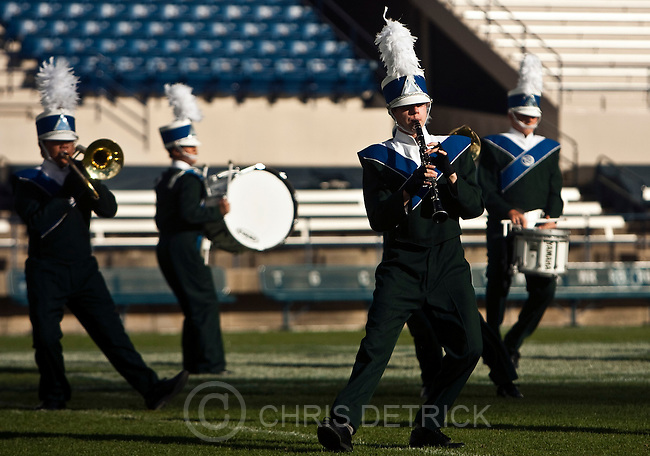 Chris Detrick  |  The Salt Lake Tribune.Members of the Timpanogos marching band perform during the 33rd annual Rocky Mountain Marching Band Competition at LaVell Edwards Stadium Tuesday October 11, 2011.