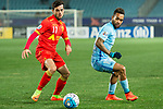 Adelaide United Forward Sergio Cirio (L) and Jiangsu FC Forward Alex Teixeira (R) in action during the AFC Champions League 2017 Group H match between Jiangsu FC (CHN) vs Adelaide United (AUS) at the Nanjing Olympics Sports Center on 01 March 2017 in Nanjing, China. Photo by Marcio Rodrigo Machado / Power Sport Images