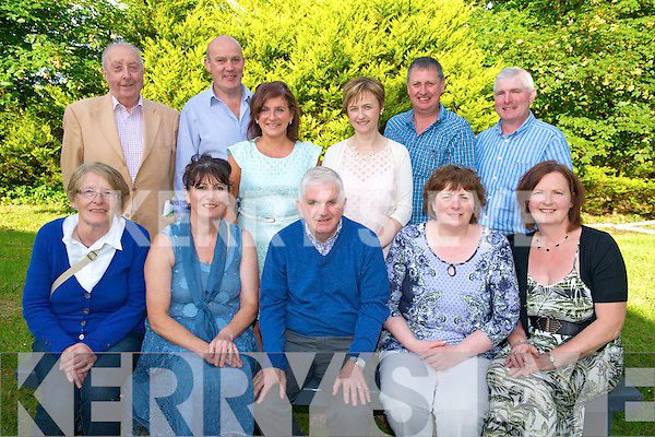 Front L-R Lil Fleming, Noreen Cronin, Bertie O'Leary (chairman), Katheleen Fleming (secretary) and Eileen Herlihy, Back L-R Dan Joe O'Keeffe, Danny Fleming, Jackie Hickey, Kathleen O'Callaghan, Patsy Herlichy and Kevin Daily at the Tureencahill Community Group School BBQ & Marquee in Tureencahill last Friday evening.