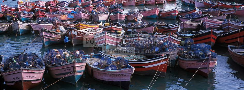 Afrique/Maghreb/Maroc/El-Jadida:  port de pèche et barques