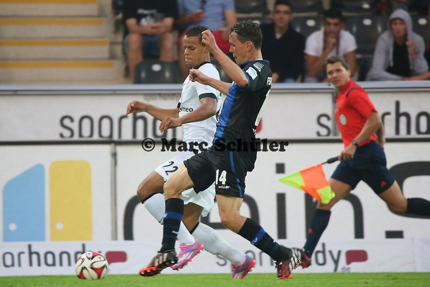 Timothy Chandler (EIntracht) gegen Alexander Bitroff (FSV) - FSV Frankfurt vs. Eintracht Frankfurt, Frankfurter Volksbank Stadion