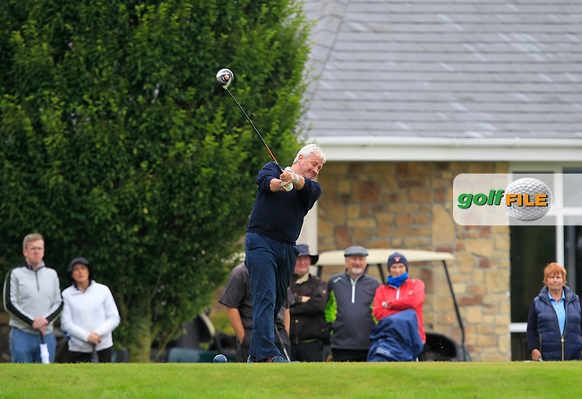 Martin Darcy (Tullamore) on the 1st tee during the Final round of the Irish Mixed Foursomes Leinster Final at Millicent Golf Club, Clane, Co. Kildare. 06/08/2017<br /> Picture: Golffile | Thos Caffrey<br /> <br /> <br /> All photo usage must carry mandatory copyright credit      (&copy; Golffile | Thos Caffrey)