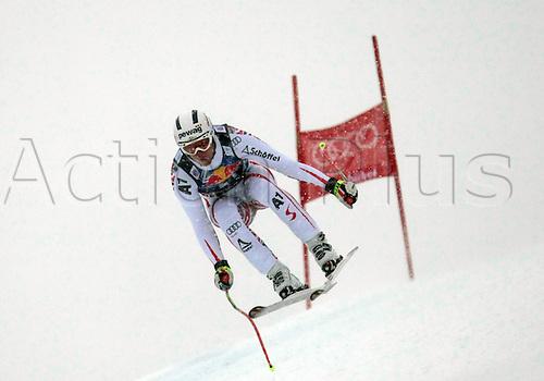 21.01.2012. Kitzbuehel, Austria. Romed BAUMANN (AUT) in action during the Alpine Ski World Cup Hahnenkamm Downhill