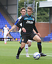 Luke Freeman of Stevenage holds off James Rowe of Tranmere<br />  - Tranmere Rovers v Stevenage - Sky Bet League One - Prenton Park, Birkenhead - 7th September 2013. <br /> © Kevin Coleman 2013