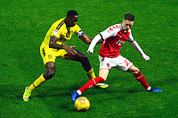 Fleetwood Town's Ashley Hunter vies for possession with Burton Albion's Lucas Akins<br /> <br /> Photographer Richard Martin-Roberts/CameraSport<br /> <br /> The EFL Sky Bet League One - Saturday 15th December 2018 - Fleetwood Town v Burton Albion - Highbury Stadium - Fleetwood<br /> <br /> World Copyright © 2018 CameraSport. All rights reserved. 43 Linden Ave. Countesthorpe. Leicester. England. LE8 5PG - Tel: +44 (0) 116 277 4147 - admin@camerasport.com - www.camerasport.com