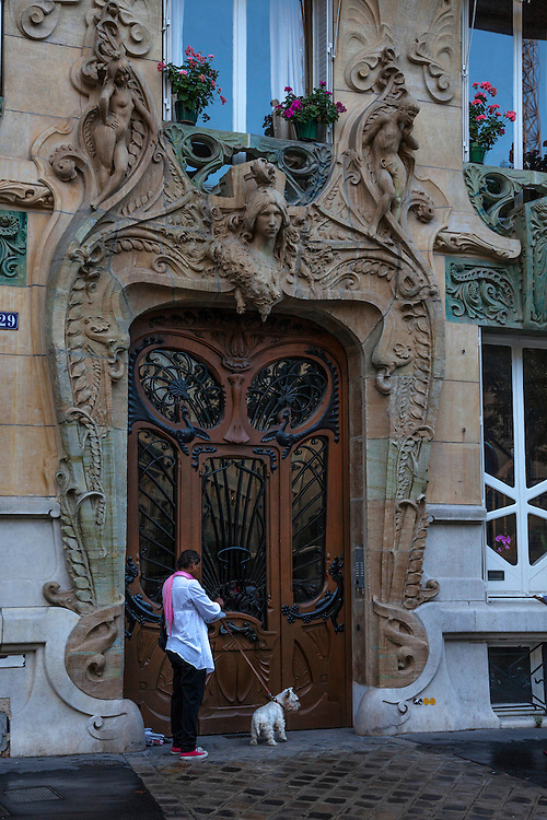 Beautifully carved and decorated entryways can be found on the streets of Paris