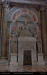 Monument to Pius VII Bertel Thorvaldsen 1831 Allegories History Time Fortitude Wisdom St Peter's Basilica Rome