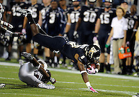 Florida International University football player running back Jeremiah Harden (6) plays against Troy University on October 26, 2011 at Miami, Florida. FIU won the game 23-20 in overtime. .
