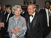 United States Secretary of Defense Donald Rumsfeld arrives at the White House Correspondent's Dinner at the Washington Hilton Hotel in Washington, DC with his wife, Joyce on May 4, 2002.<br /> Credit: Ron Sachs / CNP<br /> <br /> (RESTRICTION: NO New York or New Jersey Newspapers or newspapers within a 75 mile radius of New York City)