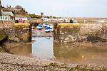 Harbour entrance at low tide, Porlock Weir, Somerset, England
