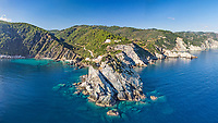 Agios Ioannis Kastri church of Skopelos island from drone, Greece