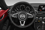 Car pictures of steering wheel view of a 2019 Mazda MX-5 Skycruise 2 Door Targa Steering Wheel