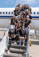 Lyon, FRA - July 8, 2019:  The USWNT travels home after winning the FIFA Women's World Cup.