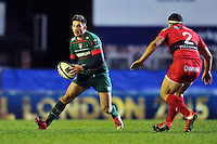 Owen Williams of Leicester Tigers in possession. European Rugby Champions Cup match, between Leicester Tigers and Toulon on December 7, 2014 at Welford Road in Leicester, England. Photo by: Patrick Khachfe / JMP