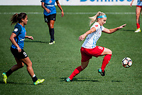 Kansas City, MO - Saturday September 9, 2017: Lo'eau Labonta, Julie Ertz during a regular season National Women's Soccer League (NWSL) match between FC Kansas City and the Chicago Red Stars at Children's Mercy Victory Field.