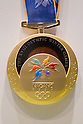 JULY 26, 2011 - Gold medal for Nagano winter Olympics : History of the Olympics in Japan at Japan Mint in Osaka, Japan. (Photo by AFLO) [1080]