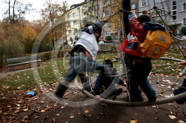 """BERN - SWITZERLAND 31. OCTOBER 2006 -- Kindergarten Tellstrasse -- PHOTO: CHRISTIAN T. JOERGENSEN / EUP & IMAGES..This image is delivered according to terms set out in """"Terms - Prices & Terms"""". (Please see www.eup-images.com for more details)"""