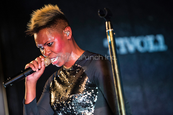 Deborah Anne Dyer alias ''SKIN'' of the band Skunk Anansie perfoming live at Tivoli, Utrecht, The Netherlands, 08.07.2013. Credit: insight media /MediaPunch Inc. ***FOR USA ONLY***