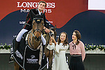 Olivier Philippaerts of Belgium riding H&M Challenge vd Begijnakker Z wins the Hong Kong Tatler Trophy, with Nicola Philippaerts of Belgium riding Ustina Sitte being the first runner-up, and William Whitaker of United Kingdom riding Fento Chin S being the second runner-up, during the Longines Masters of Hong Kong 2017 on 12 February 2017 at the AsiaWorld Expo in Hong Kong, China. Photo by Juan Manuel Serrano / Power Sport Images
