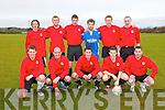 Asdee Rovers: Front: Joe O'Brien, Maurice O'Connor, Cillian Beasley, Darren Russell & Paddy O'Brien. Back: John Martin Horgan, Tom Pierse, Martin  Collins, James Kelly, Maurice O'Halloran, Noel Long.