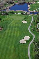 aerial photograph Rooster Run Golf Course, Petaluma, Sonoma county, California