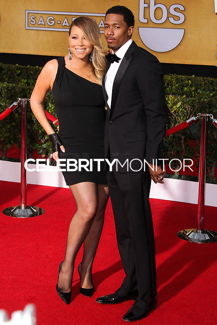 LOS ANGELES, CA - JANUARY 18: Mariah Carey, Nick Cannon at the 20th Annual Screen Actors Guild Awards held at The Shrine Auditorium on January 18, 2014 in Los Angeles, California. (Photo by Xavier Collin/Celebrity Monitor)