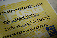 Assegno non trasferibile. Check non-transferable.