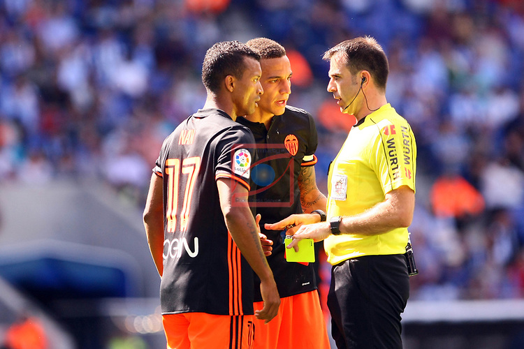 League Santander 2016/2017. Game: 37.<br /> RCD Espanyol vs Valencia CF: 0-1.<br /> Nani, Rodrigo Moreno &amp; Ocon Arraiz.