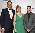 Joseph Haj, Kate Freer and Ty Defoe during a reception for Theatre Forward's Chairman's Awards Gala at the Pierre Hotel on April 8, 2019 in New York City.