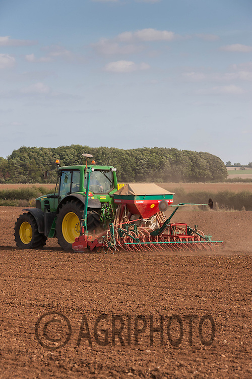 Drilling oilseed rape into ploughed and press land in Rutland