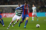 Mikael Lustig of Celtic and André Gomes of Barcelona  during the Champions League match at Celtic Park, Glasgow. Picture Date: 23rd November 2016. Pic taken by Lynne Cameron/Sportimage