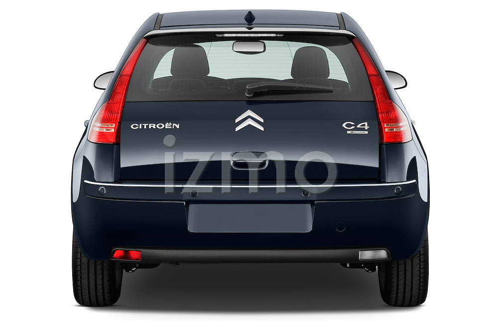 Straight rear view of a 2010 Citroen C4 Millenium 5 Door Hatchback 2WD