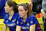 GER - Muelheim an der Ruhr, Germany, February 04: During the FinalFour semi-final women hockey match between Harvestehuder THC (yellow) and Mannheimer HC (blue) on February 4, 2017 at innogy Sporthalle in Muelheim an der Ruhr, Germany. Final score 4-2 (HT 1-2). (Photo by Dirk Markgraf / www.265-images.com) *** Local caption *** Maxi Pohl #6 of Mannheimer HC
