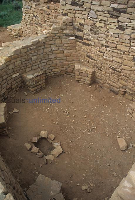 Kiva, Lowry ruins, Anasazi Culture, Colorado, USA.