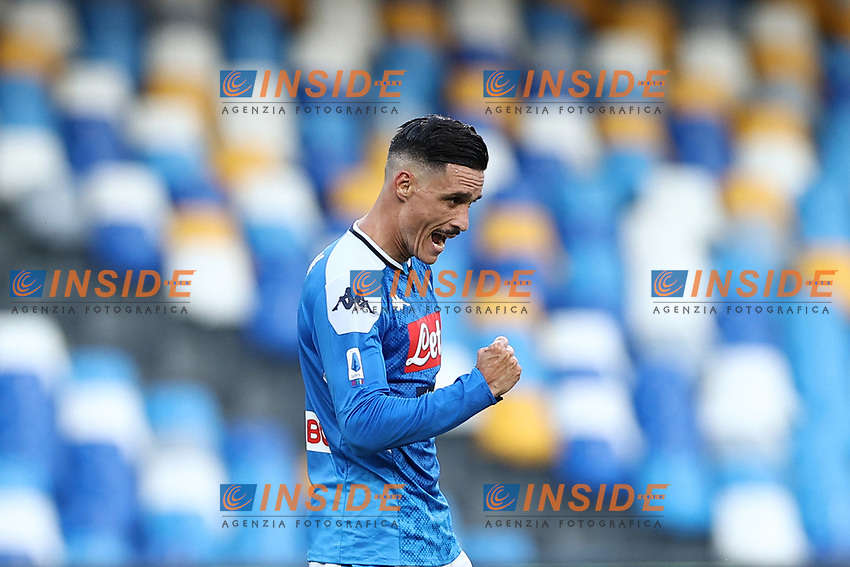 Jose Callejon of Napoli celebrates<br /> during the Serie A football match between SSC  Napoli and SPAL at stadio San Paolo in Naples ( Italy ), June 28th, 2020. Play resumes behind closed doors following the outbreak of the coronavirus disease. <br /> Photo Cesare Purini / Insidefoto