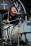 Steve Brown of Orelander performs during the 2013 Rock On The Range festival at Columbus Crew Stadium in Columbus, Ohio.