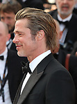 "72nd edition of the Cannes Film Festival in Cannes in Cannes, southern France on May 21, 2019. Red Carpet for the screening of the film ""Once Upon a Time... in Hollywood"" US actor Brad Pitt on the red carpet.<br /> © Pierre Teyssot / Maxppp"