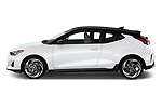Car driver side profile view of a 2019 Hyundai Veloster Turbo Ultimate 5 Door Hatchback
