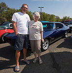 Willie and Jackie Lundquist with their 1968 Pontiac GTO during the Hot August Nights Pre-Kickoff Party at the Bonanza Casino in Reno, Nevada on Sunday, August 6, 2017.