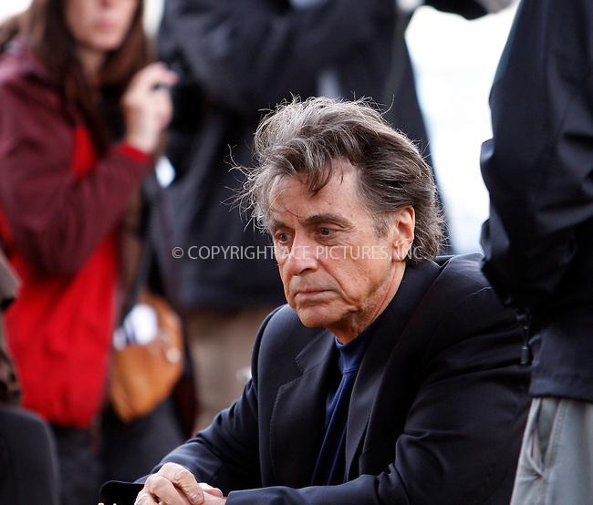 WWW.ACEPIXS.COM . . . . .  ....October 24 2007, New York City....Actors Al Pacino and Robert De Niro were on the streets of Harlem on the set of their new movie 'Righteous Kill'.....Please byline: AJ Sokalner - ACEPIXS.COM..... *** ***..Ace Pictures, Inc:  ..te: (646) 769 0430..e-mail: info@acepixs.com..web: http://www.acepixs.com