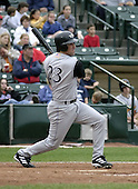 July 25, 2004:  Steve Lomasney of the Louisville Bats, Triple-A International League affiliate of the Cincinnati Reds, during a game at Frontier Field in Rochester, NY.  Photo by:  Mike Janes/Four Seam Images