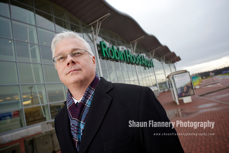 Pix: Shaun Flannery/shaunflanneryphotography.com...COPYRIGHT PICTURE>>SHAUN FLANNERY>01302-570814>>07778315553>>..11th January 2011................Robin Hood Airport Doncaster Sheffield..Craig Richmond (left), CEO Peel Airports Limited.