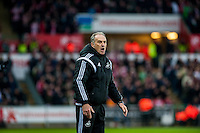 Francesco Guidolin, Manager of Swansea City reacts during the Barclays Premier League match between Swansea City and Southampton  played at the Liberty Stadium, Swansea  on February 13th 2016