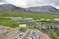 Historic Independence Gold Mine in Hatcher Pass, Alaska.
