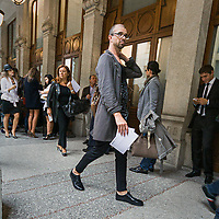 In attesa della sfilata di Gian Franco Ferre' alla settimana della moda a Milano.<br /> <br /> Waiting the fashion show of Gian Franco Ferre' during the fashion week in Milan.